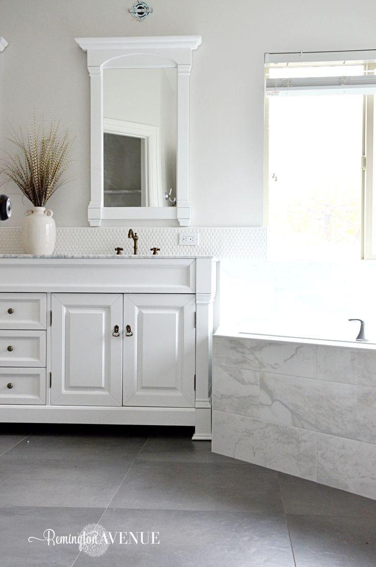 ORC-Week 4: Master Bathroom tile {Designer Style on a budget} - Remington Avenue (scheduled via http://www.tailwindapp.com?utm_source=pinterest&utm_medium=twpin&utm_content=post150220489&utm_campaign=scheduler_attribution)
