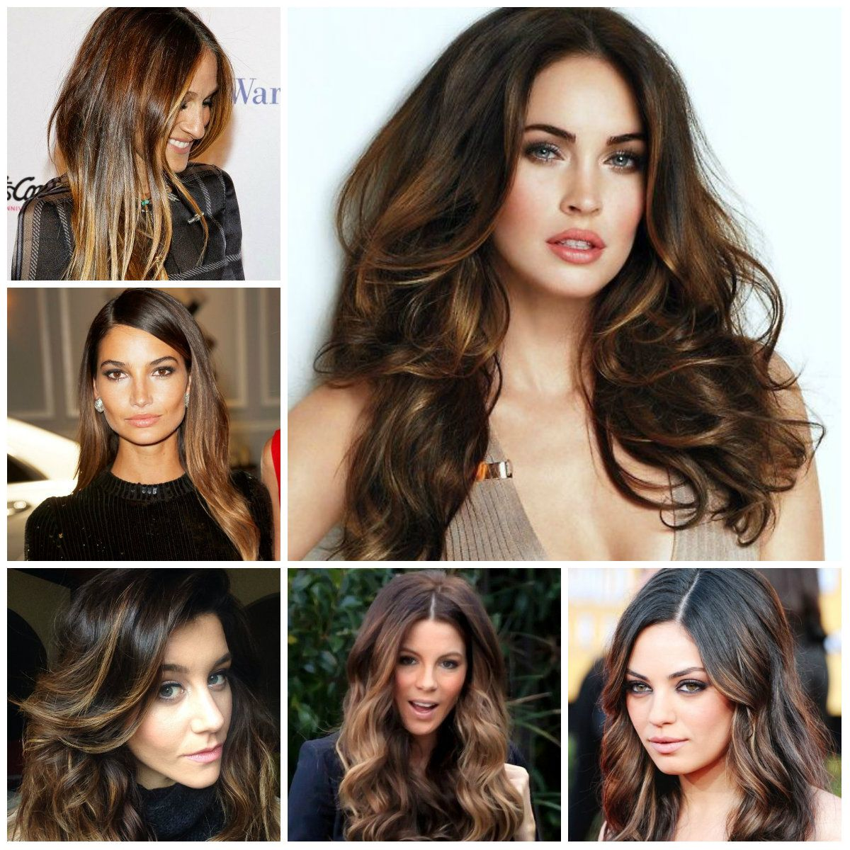 Hairstyles 2016 dark hair - Hair Highlights 2016 Haircuts Hairstyles 2016 And Hair Colors For Short Long Medium Hairstyles