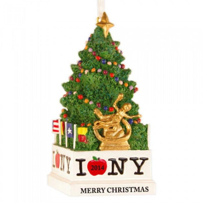 NYC Tree 3D Personalized Christmas Ornament  Holiday Decor