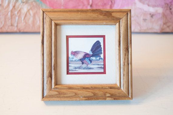 Mini Rooster Picture Frame By Ramseyramble On Etsy Ramsey Ramble