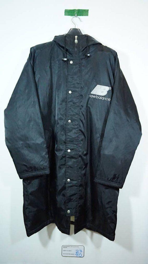 5f265eeff6e80 Vintage 90s New Balance Sherpa Long Windbreaker Jacket Size XLarge Xl Large  Hip hop Rap Swag Runners