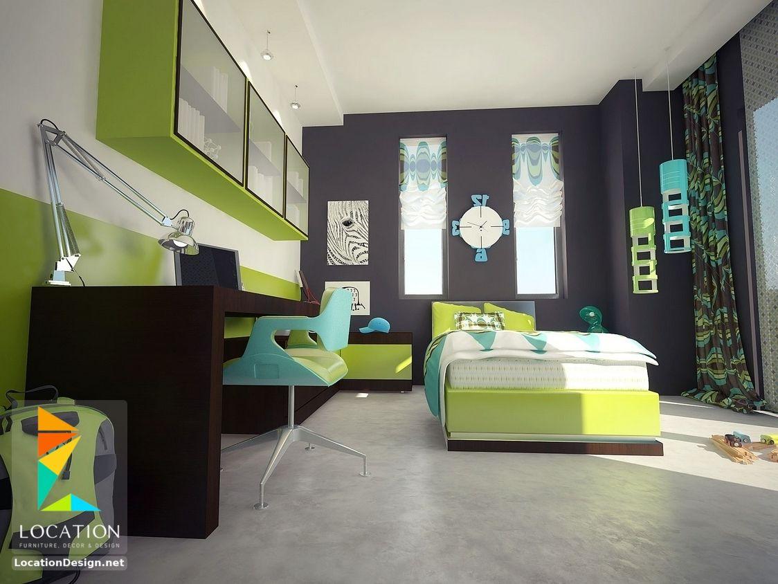 غرف نوم اولاد شباب أحدث موديلات غرف شبابي مودرن لوكشين ديزين نت Boy Room Paint Boys Bedroom Colors Boys Bedroom Paint Color
