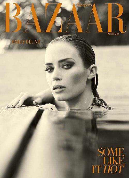Emily Blunt can look like the girl you'd most want to have coffee and gossip with and then she can look like this. Damn! Yeah for cute AND sexy!