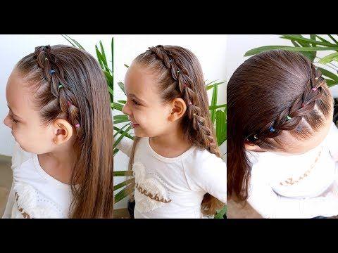 Penteado Infantil Facil Com Tiara De Tranca Falsa E Ligas