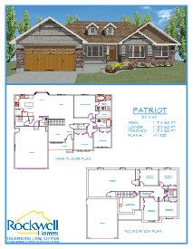 rockwell homes, patriot 3421 sq ft, high 180s