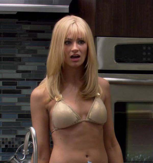 Beth Behrs ✾ Gold Bikini, 2 Broke Girls, Kat Dennings, Celebrity Pictures,