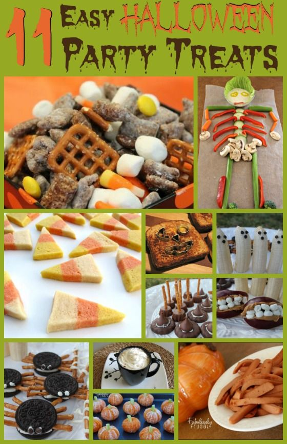 Cool ideas for Halloween party treats Even includes a few healthy