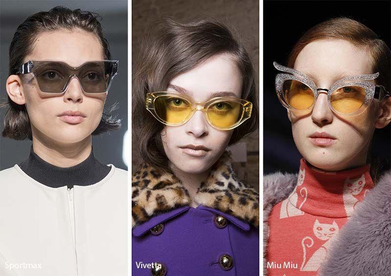 f3846cbfa5f7 Fall  Winter 2017-2018 Sunglasses Trends  Sunglasses with Translucent Frames