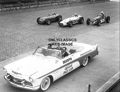 1956 Indy 500 Desoto Convert Pace Car Auto Racing Photo