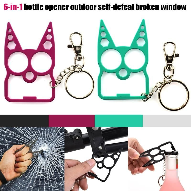 Stay Safe With Kitty Key Chain V2 Multi Function The Kitty Keychain Cat Self Defense Keychain Self Defense Keychain Cat Keychain