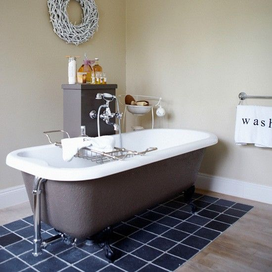 bathroom tiles to zone out bath zone out a freestanding bath with floor tiles - Bath Bathroom