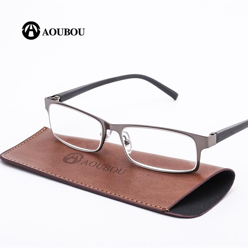 98350bf55a5c8c AOUBOU Brand High-end Business Reading Glasses Men Stainless Steel PD62  Glasses Ochki 1.75+3.25 Degree Gafas De Lectura AB002. Yesterday s price   US  8.88 ...