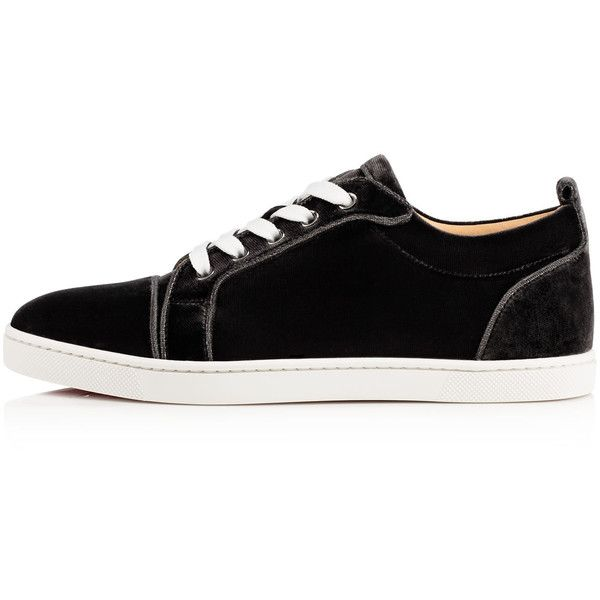 62079e1a26a Christian Louboutin Louis Multi Spikes Mens Flat High Top Patent Leather  Sneakers Black