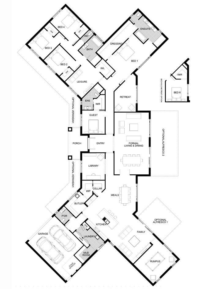 Floorplan Home Design Floor Plans Dream House Plans Bedroom House Plans