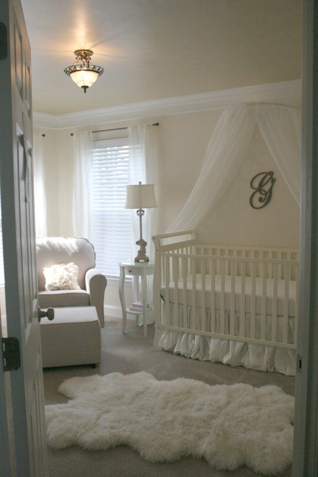 All White Vintage Baby Girls Nursery.the Idea Of All White For Baby Is  Nice, But When You Take Into Account All The Spit Ups, Projectile Poo, And  Other Baby ...