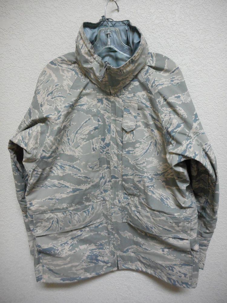 USAF ABU TIGER STRIPE GORETEX PARKA, APEC, SIZE MEDIUM
