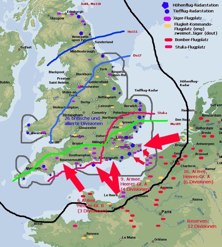 Karte von der Schlacht um England Historical Maps Pinterest - fresh germany map after world war 1