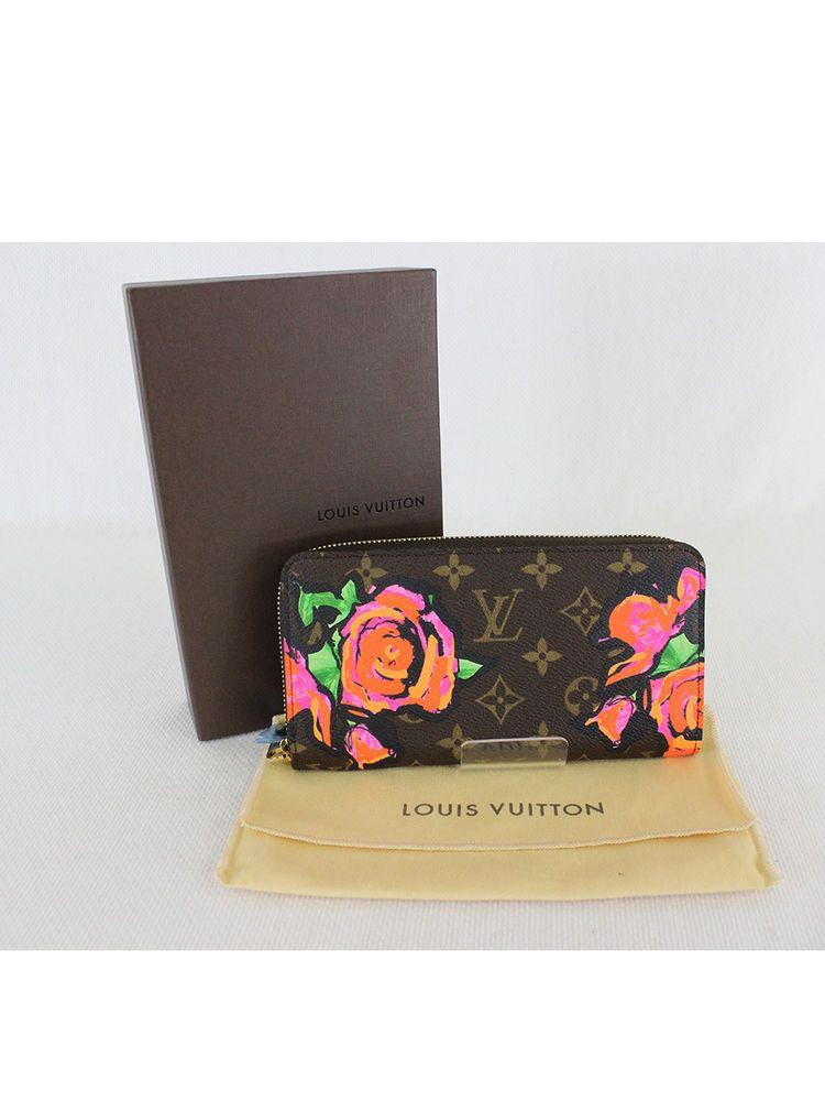 1ce2a4cf557e Auth Louis Vuitton Stephen Sprouse Monogram Canvas Roses Graffiti Zippy  Wallet  LouisVuitton  ZippyWallet