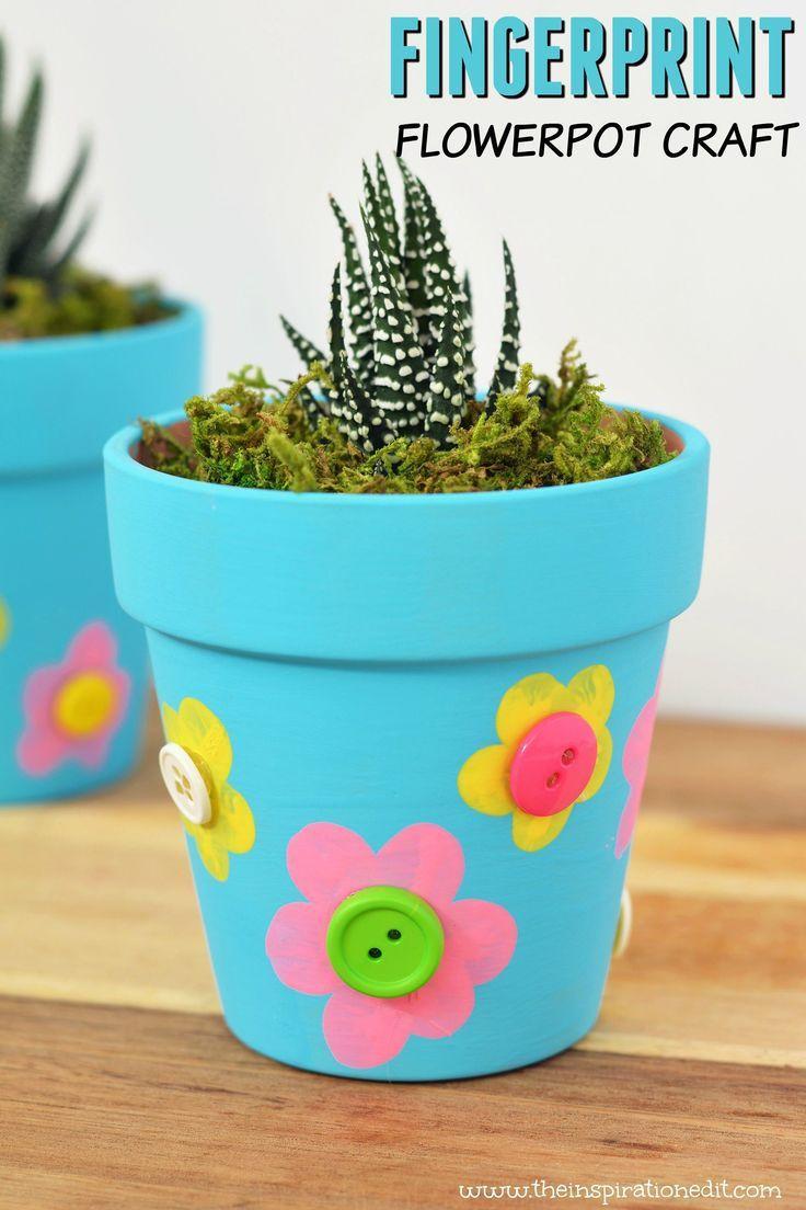 Craft Pot de Fleurs Fête des Mères