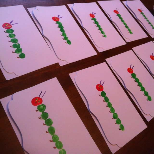 The very hungry caterpillar thank you cards hand made by your the very hungry caterpillar thank you cards hand made by your child bookmarktalkfo Image collections