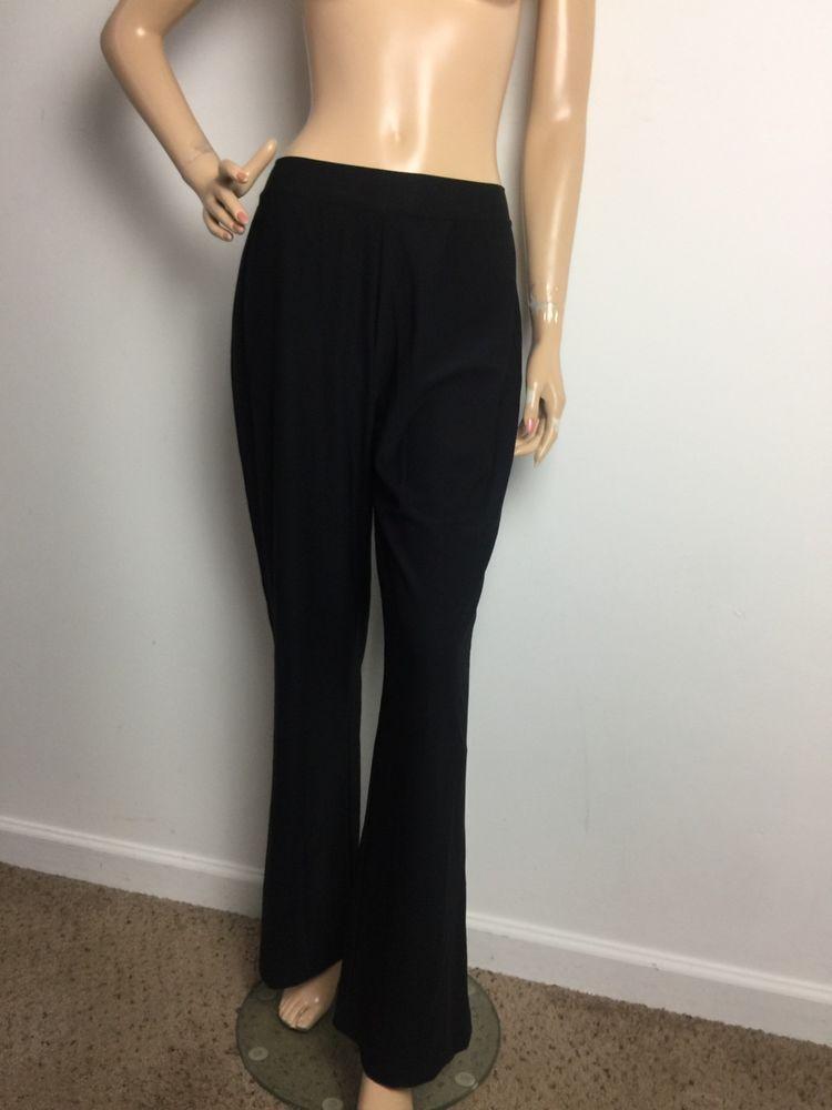 6aaef02ebcd29 SPANX Shapewear Pants Black Inner Liner Athletic Flare Leg Women s Medium