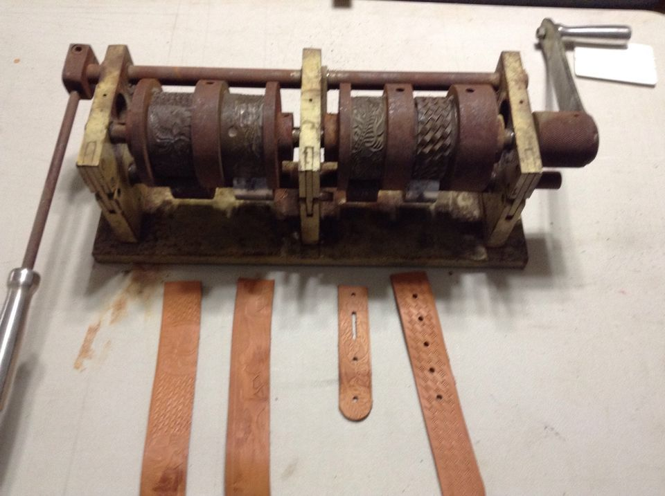 Leather Embossing Machine With Embossing Wheels инструмент для - küchen ebay kleinanzeigen