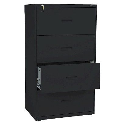 basyx® 400 Series Four-Drawer Lateral Filing Cabinet