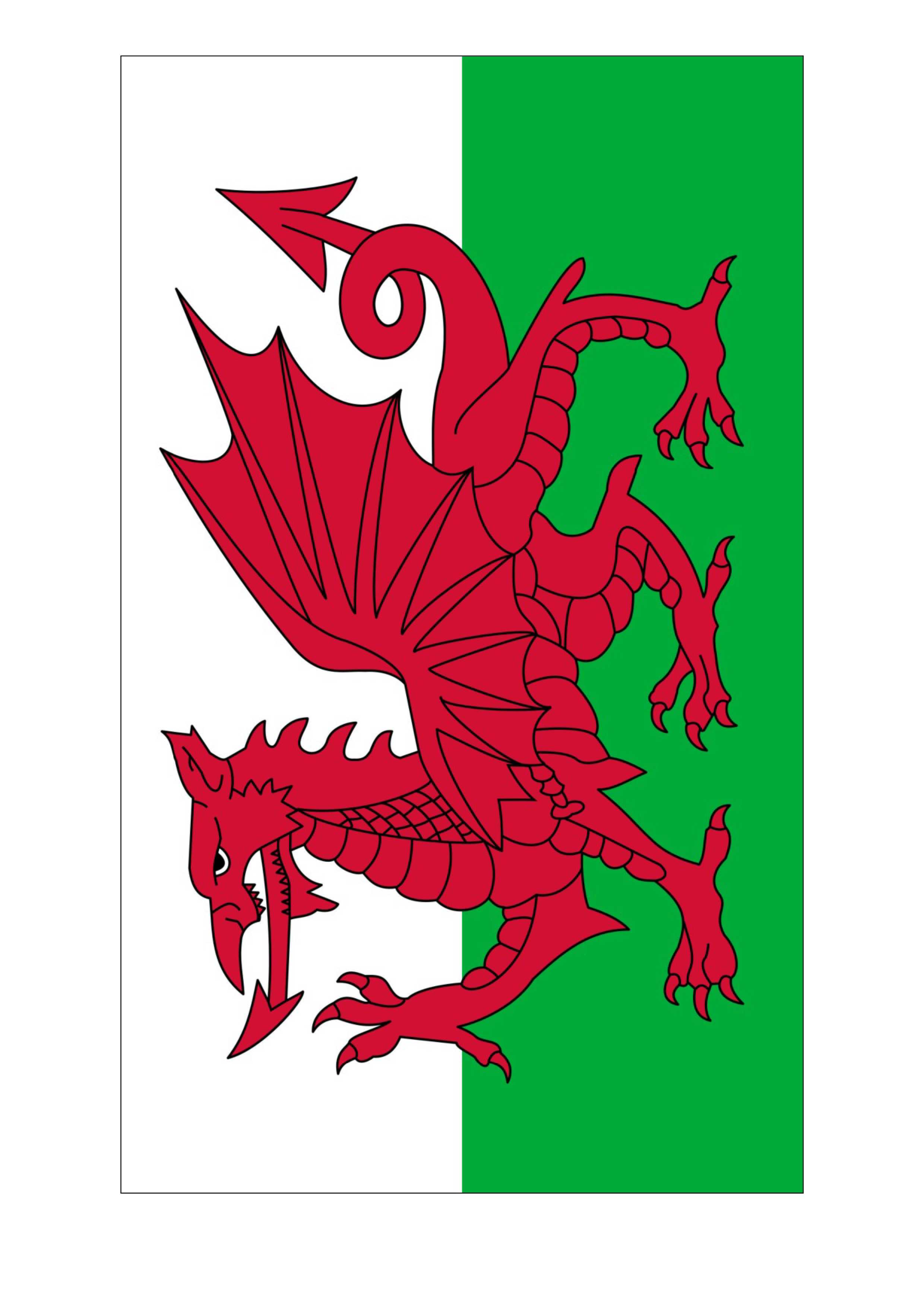 St David S Day Pictures To Print Colour Saint David S Day Dragon Pictures To Color Saint David