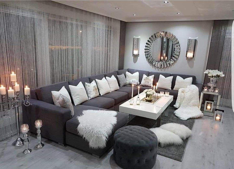 Beautiful Dark Grey Living Room Chic Living Room Decor Living Room Grey Home Living Room