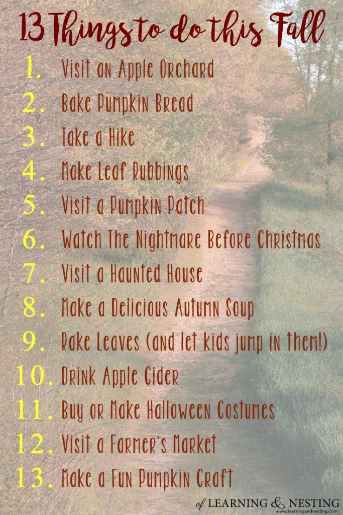 Forty-Five Fun Things to Do in Autumn