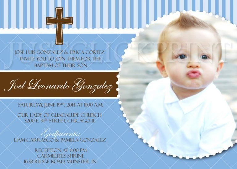 baptisminvitationsforbabyboy Baptism invitation for
