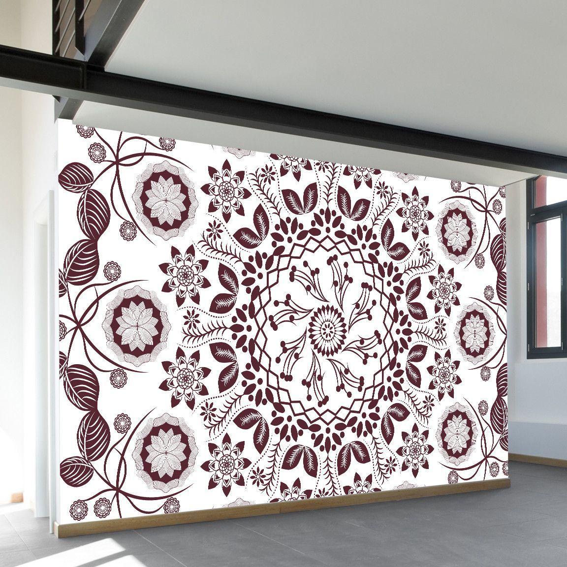 Boho Hippie Mandala Wall Mural