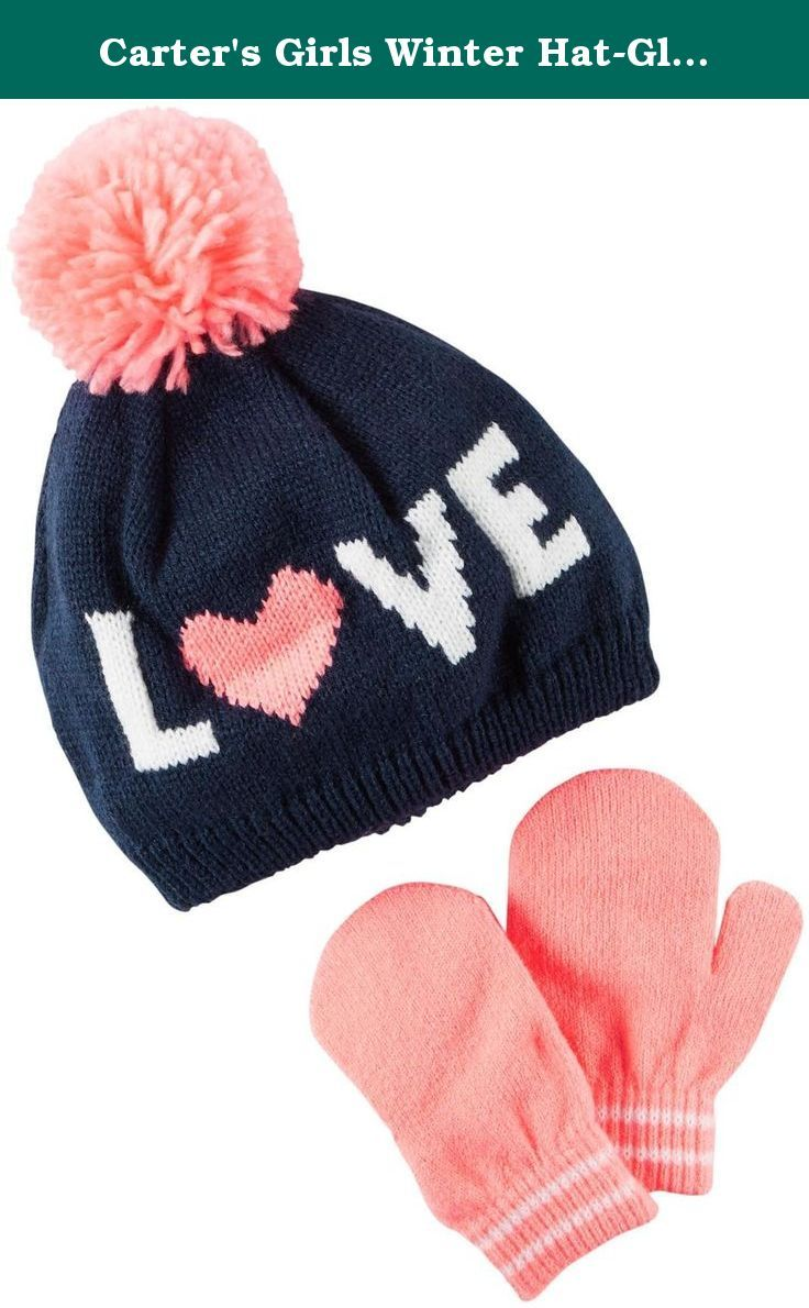 Carter s Girls Winter Hat-Glove Sets D08g154 48d8b0495c4