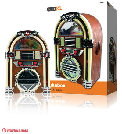 BasicXL+BXL-JB10+Retro+jukebox+radio/CD-soitin+ +Karkkainen.com+verkkokauppa