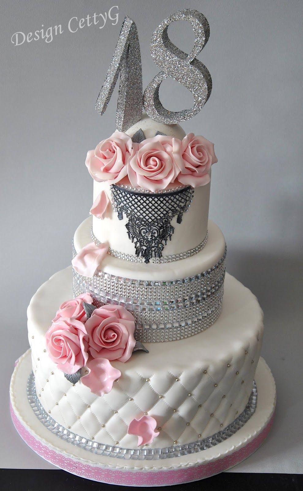 Le torte decorate di CettyG...: 18?Compleanno...Chic ...