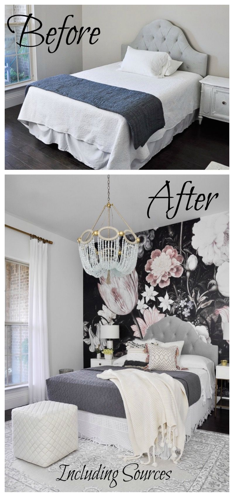 Master bedroom before and after  One Room Challenge  The Reveal  Bedrooms Room and House