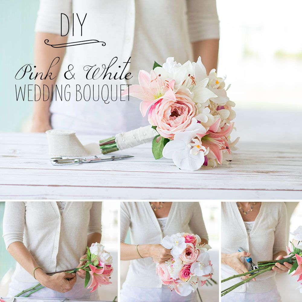 Learn How To Make Your Own Wedding Bouquet With Silk Flowers From