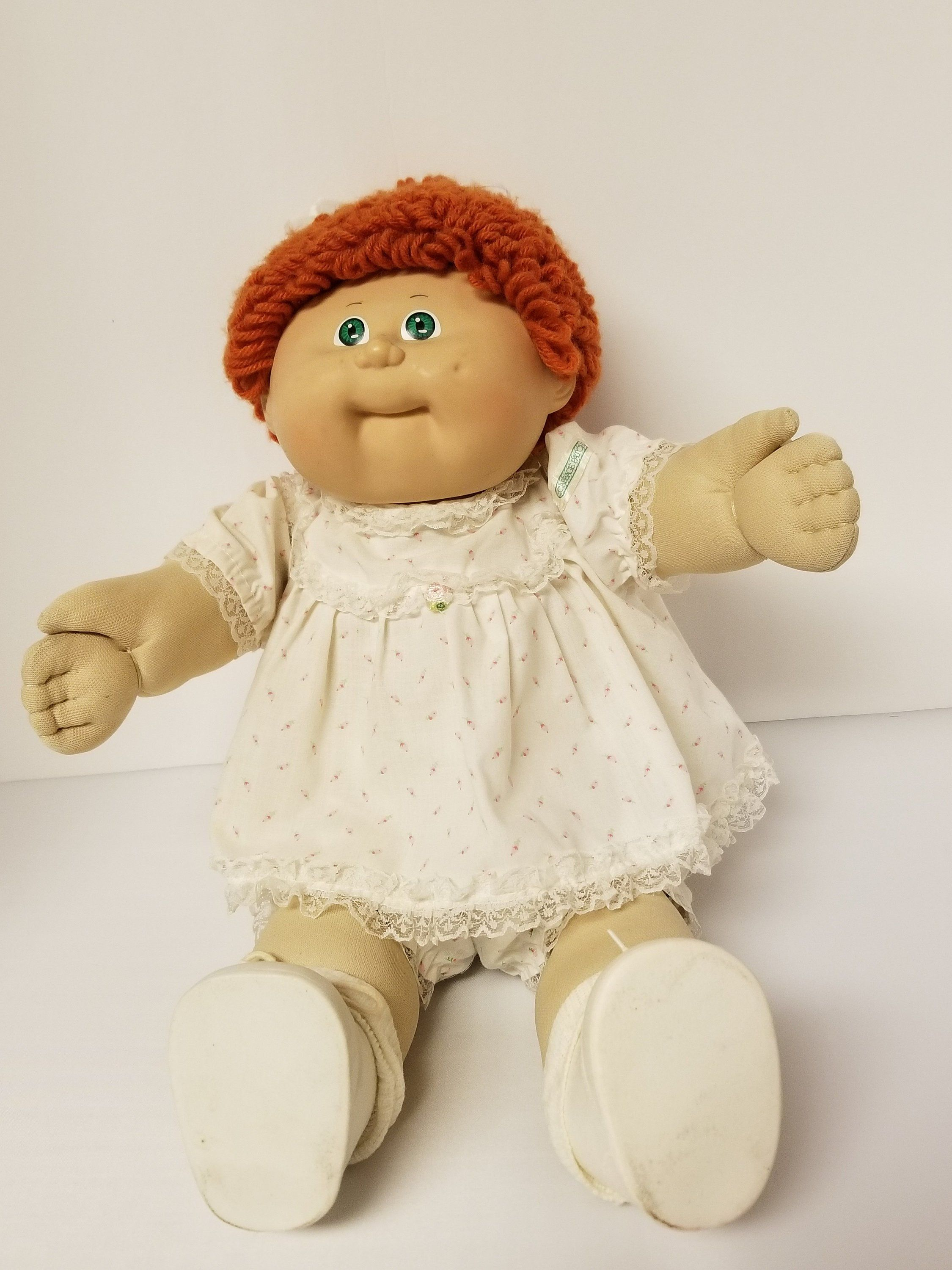 Vintage 1986 Cabbage Patch Doll With Red Hair And Green Eyes Etsy Cabbage Patch Dolls Cabbage Patch Kids Patch Kids