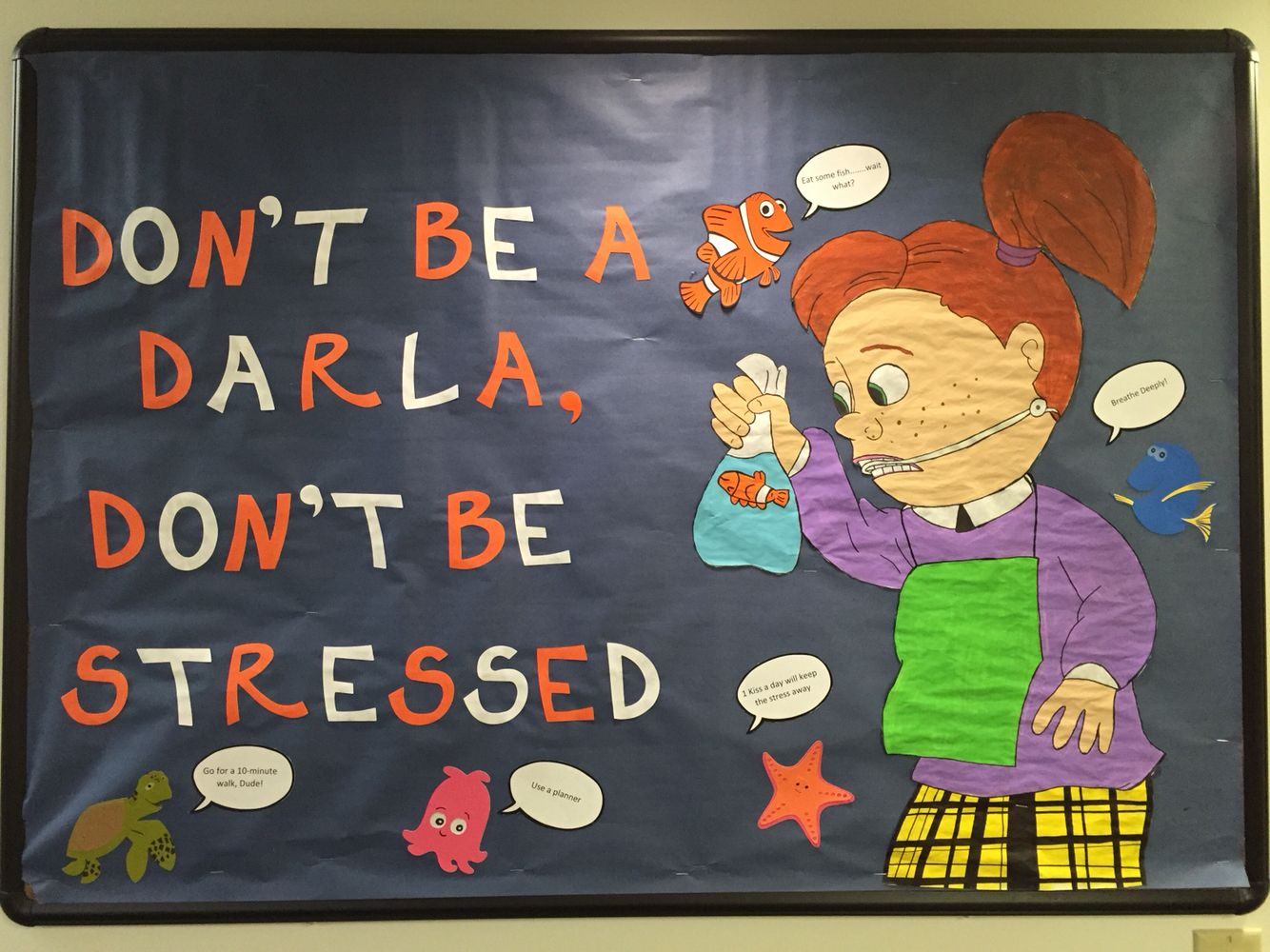 Finding Nemo Bulletin Board About Stress Ra