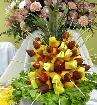 Pineapple Centerpiece Fruit Cabobs