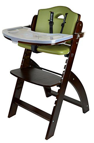 Abiie Beyond Wooden High Chair With Tray The Perfect Seating Highchair Solution For Your Child As Toddlers Or A Dining Chair Best High Chairs Wooden High Chairs