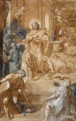 BAROCCI Federico (c.1535 - 1612) - study for the 'Institution of the Eucharist'