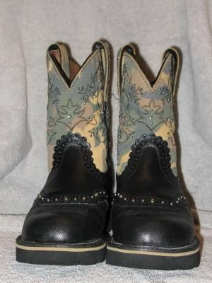 Ariat Black Camo Fat Baby Boots New Nice My Style Pinterest