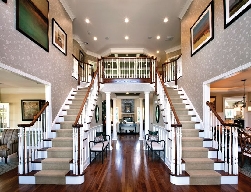 Best Toll Brothers 2 Story Foyer With Dual Staircase Double 400 x 300