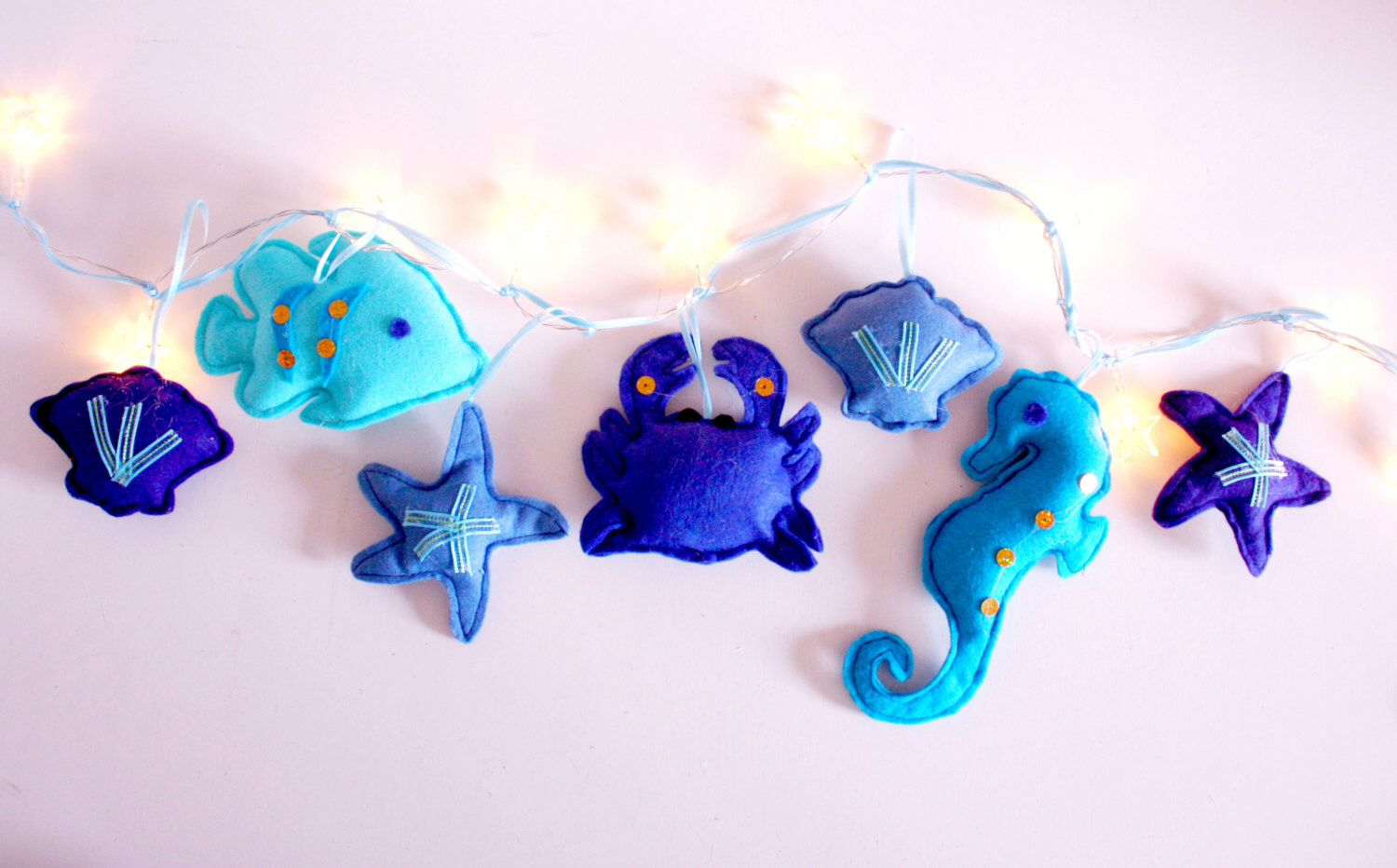 Under the Sea string lights, fairy lights, nautical themed, seahorse, bedroom decor by ButtonOwlDesign on Etsy https://www.etsy.com/uk/listing/151988505/under-the-sea-string-lights-fairy-lights