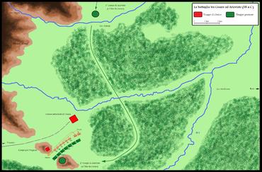 Battaglia tra Cesare e Ariovisto presso Mulhouse (Alsazia) nel 58 a.C.