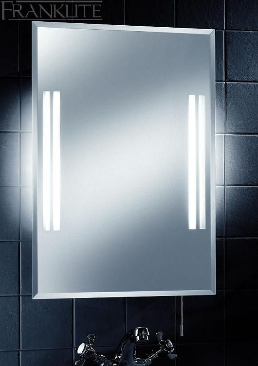 The Low Energy Bathroom Mirror Light With Shaver Socket From Franklite Lighting Is Available From Bathroom Mirror Bathroom Mirror Lights Bathroom Ceiling Light