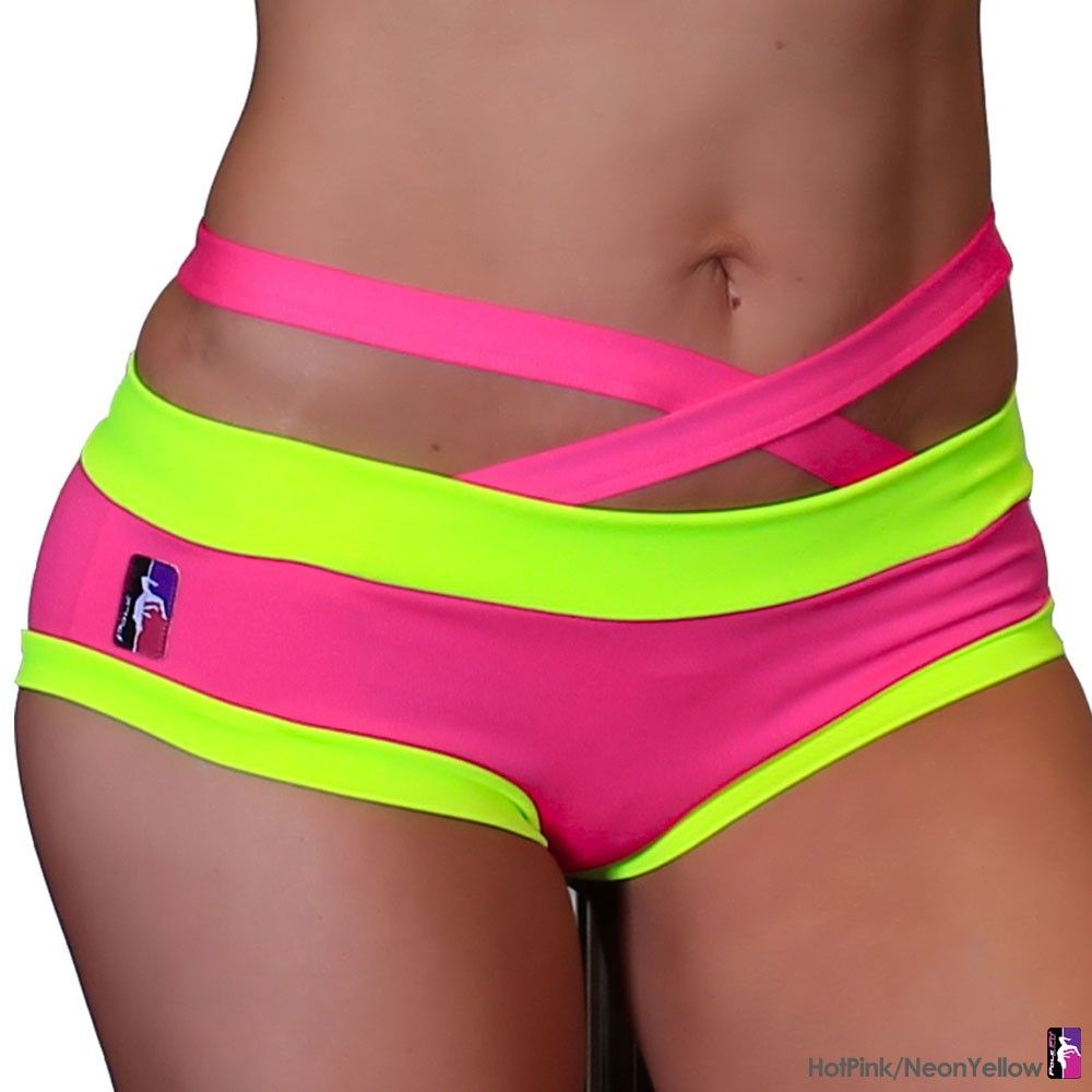 Criss Cross Brazil Pole Dancing Shorts | PoleFit by Bad Kitty Size ...