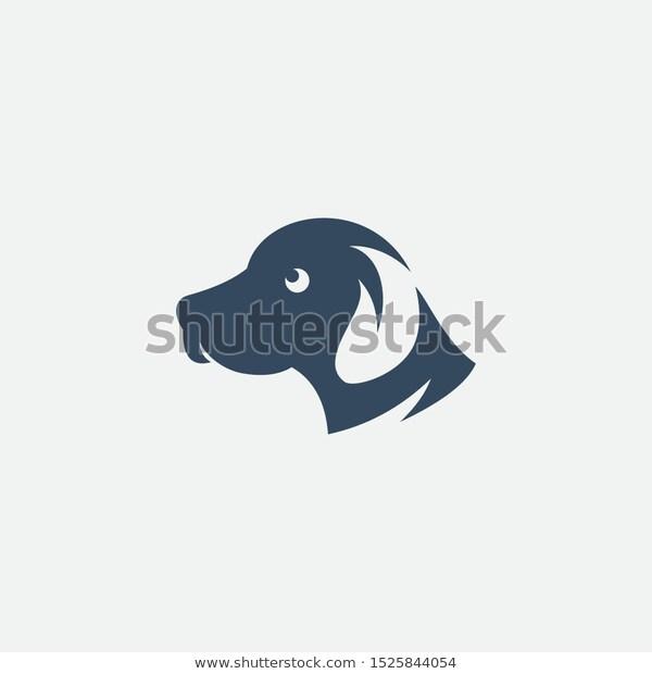 Dog Head Logo Design Template Icon Stock Vector Royalty Free 1525844054 Abstract Adopt Animal Art Bran Dog Logo Design Logo Design Template Logo Design