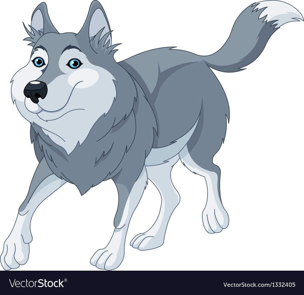 Cute cartoon wolf running. Download a Free Preview or High ... - photo#46